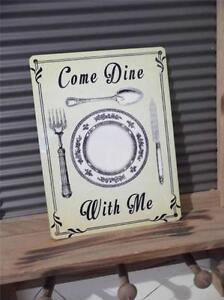 SHABBY CHIC VINTAGE RETRO STYLE METAL WALL SIGN PLAQUE