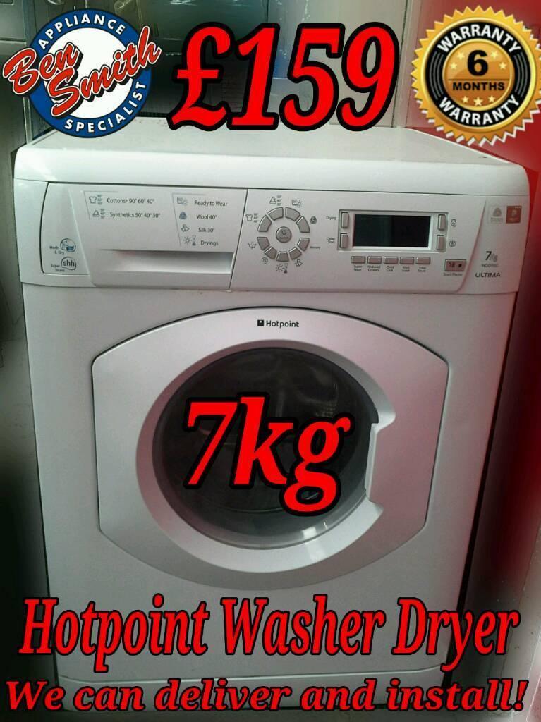 Hotpoint 7kg Washer Dryer White