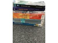Law, legal system, accounts text books