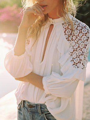 Free People Little Bit Of Love Top Shirt White Nwt  108