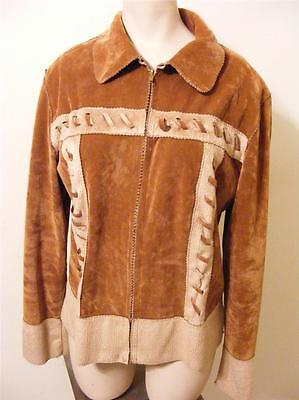 womens I Jdols polyester HIPPIE WESTEN zip Up soft JACKET COAT LARGE very clean