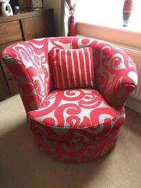 2 x 2 seater sofas, swivel chair and 2 canvas's for sale