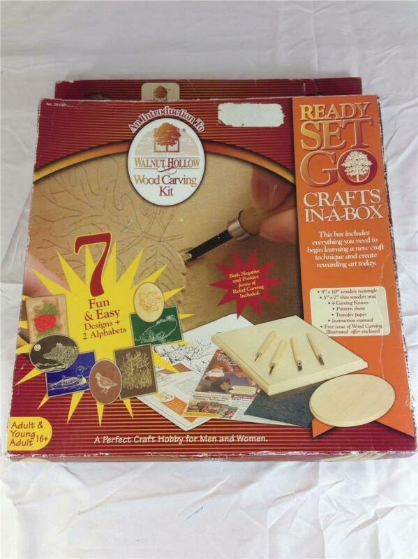 NEW Walnut Hollow Introduction To Wood Carving Kit