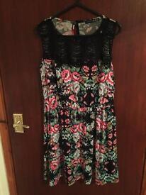 Flower design dress size 10