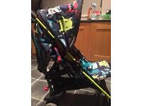 Cosatto Supa Cuddle Monster single buggy with cosytoes and raincover