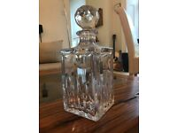 Lead Crystal Square Spirit Decanter Whisky