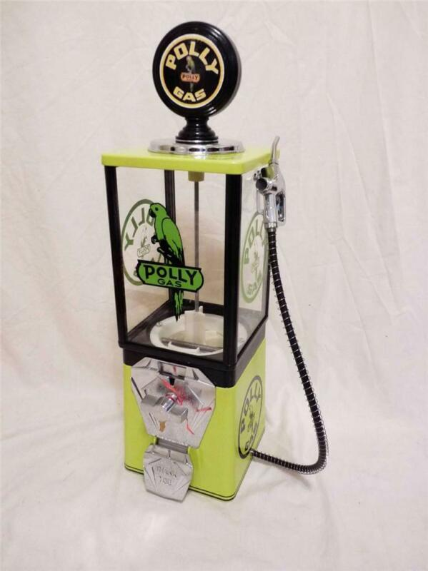 vintage gumball machine POLLY GAS man cave game room peanuts dispenser