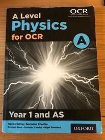 A Level Physics for OCR Year 1 & AS.