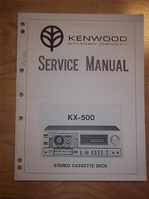 Kenwood Service Manual~KX-W4050 Cassette//Tape Deck//Player~Original