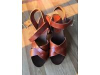 Brand new real leather sandals from ASOS