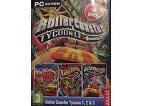 Roller coaster tycoon 1, 2 & 3 PC CD-ROM