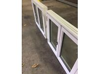 Scandanavian - 2 Danish Timber doubled glazed casement windows pair