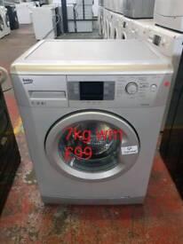Beko silver 7kg washing machine free delivery in Oakham