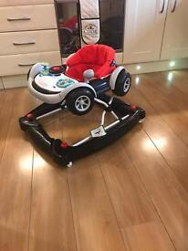 Baby job lot; pram, jumparoo, baby walker, bouncy chair & bumbo seat