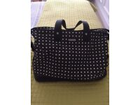 Storksak changing bag - Black and White diamond print