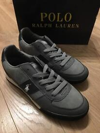 POLO RALPH LAUREN SUEDE/LEATHER SNEAKERS.