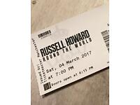 2 x Russell Howard tickets @ Earls Court - Saturday 4th March (Stall M Row 8)