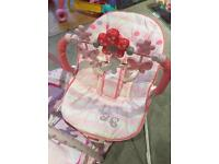 Fisher Price Comfy Time Pink Bouncer