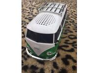 Camper van radio with USB and memory card slot