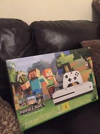 Brand new XBOX ONE S, minecraft edition