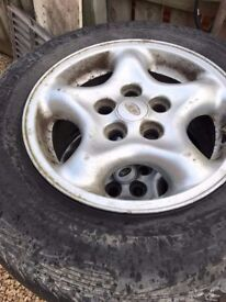Freelander Alloy wheels and tyre