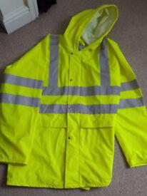 waterproof reflective jacket size large