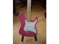 Gould Stratocaster (Pink) and extras