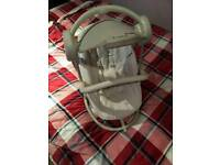 Mama and papas cream swing chair with lights