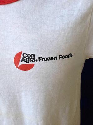 Vintage Conagra Frozen Foods Omaha Cut Neck Sleeve Bands Screen Stars T Shirt M
