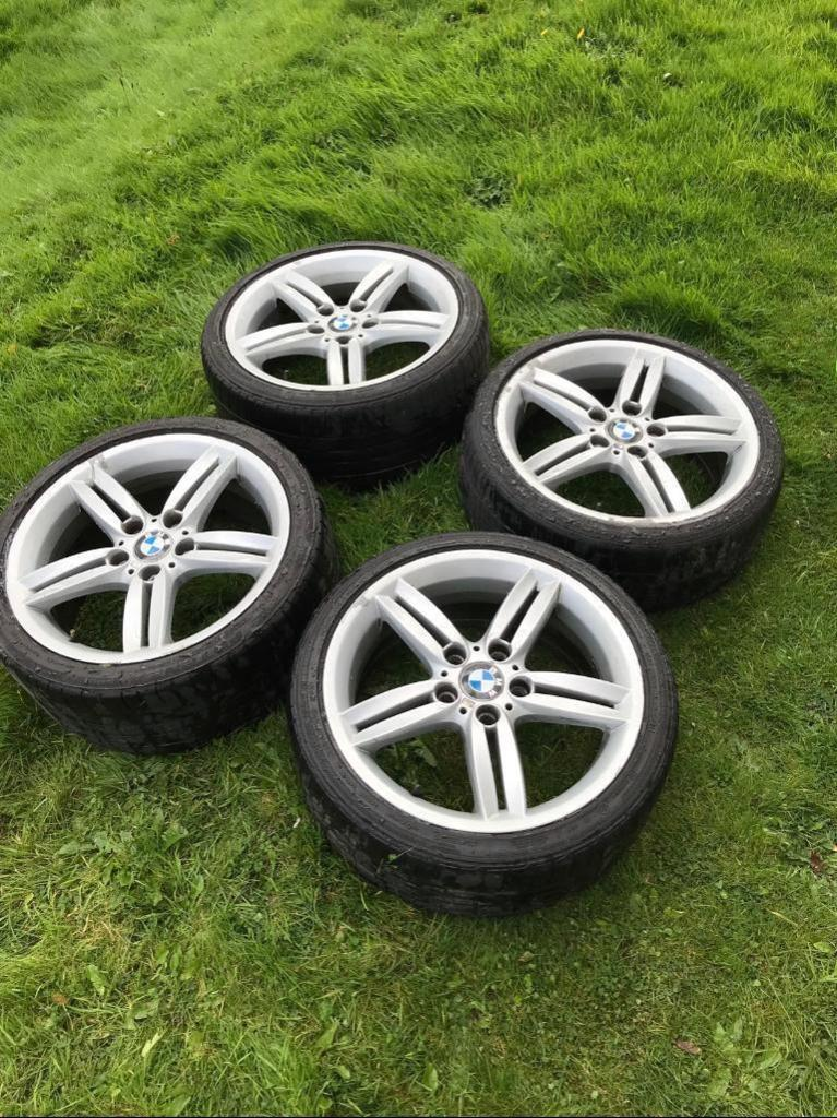 4x Genuine BMW M Sport Alloys and Tyres 1 3 series