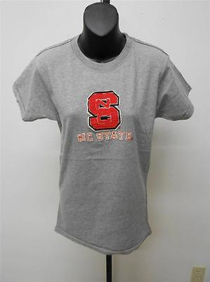 New North Carolina State Wolf Pack Womens Xl Xlarge Vintage Tee T Shirt 25Vu