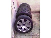 """Bmw 18"""" Alloy Wheels 1/3/5 E60 E61 F10 E90 1&3&5 SERIES Can Sell Single Can Post Part Ex Welcome"""