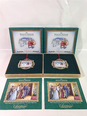 2 NIB THE WHITE HOUSE HISTORICAL ASSOCIATION CHRISTMAS ORNAMENT 2011 50th ANN.