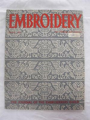 "VINTAGE 1950's ""EMBROIDERY"" EMBROIDERERS GUILD JOURNAL NEEDLEWORK MAGAZINE"