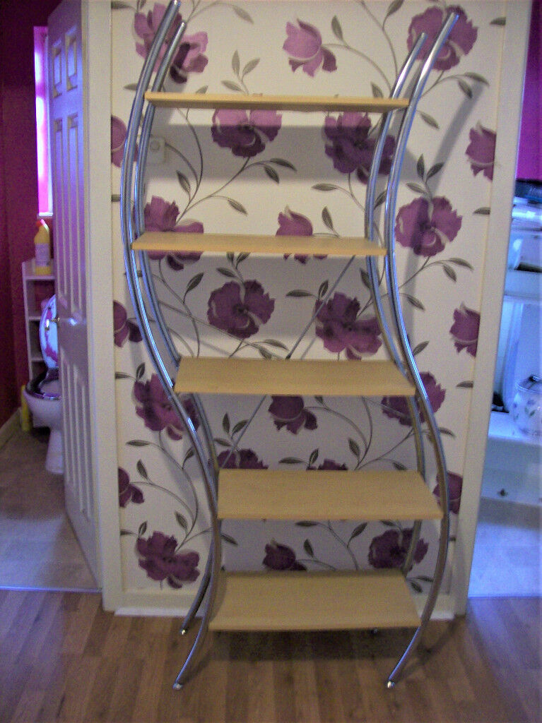 SERPENTINE SHAPED SHELVES.COLLECT NEW MILTON AREA