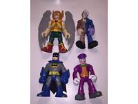 4 x IMAGINEXT SUPER HERO FIGURES ( marvel DC PLAYSKOOL fisher price)
