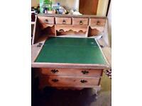 Vintage rustic wooden desk