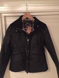 Women's Barbour Isleham Black Jacket, Size UK 10