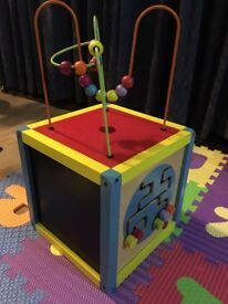 Wooden activity box