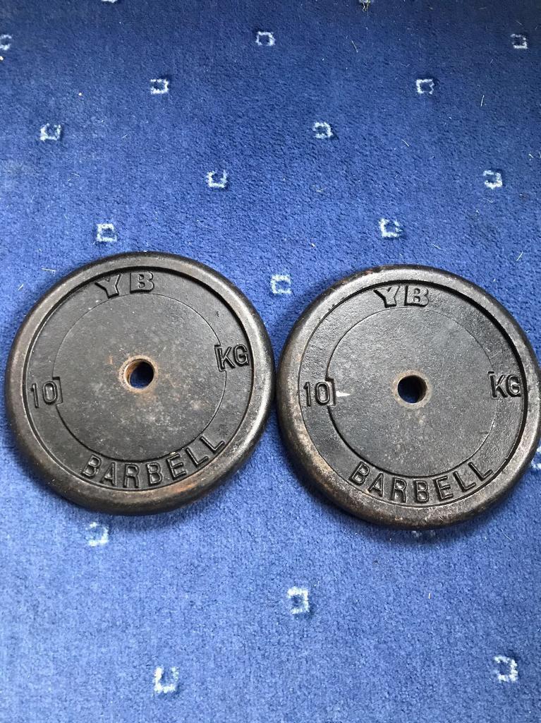 2x10kg YB cast iron weight plates