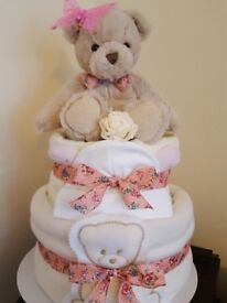 Girls Vintage 2 Tier Nappy Cake