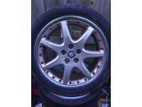 "Jaguar bbs 18"" alloys and tyres"