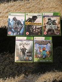 2 bundles of Xbox 360 games