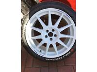 Rally Wheels and Tyres for sale