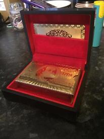 99.9% pure 24 carot gold deck of cards