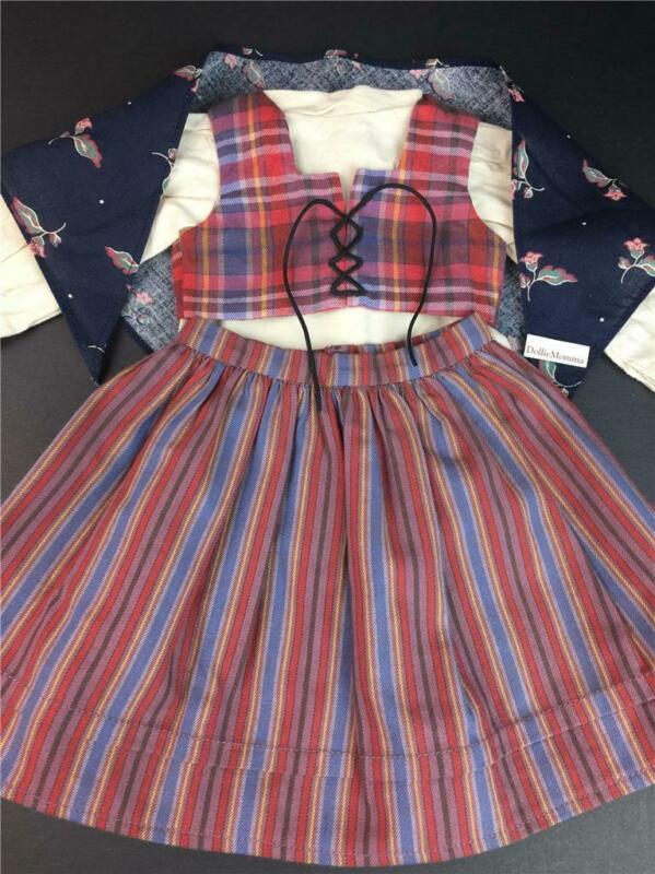 American Girl~Kirsten DIRNDL Outfit~Kerchief~Blouse~Vest~Skirt~Pleasant Company