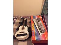 Acoustic Guitar and Electric Keyboard (Price Negotiable)