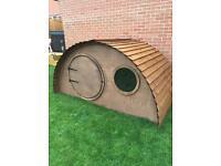 Children' wooden Timber mini Hobbit Houses for sale