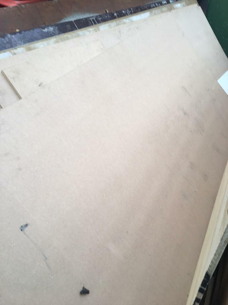 12mm mdf plus various off cuts at 18 mm
