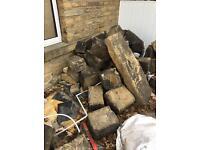 Yorkshire stone blocks